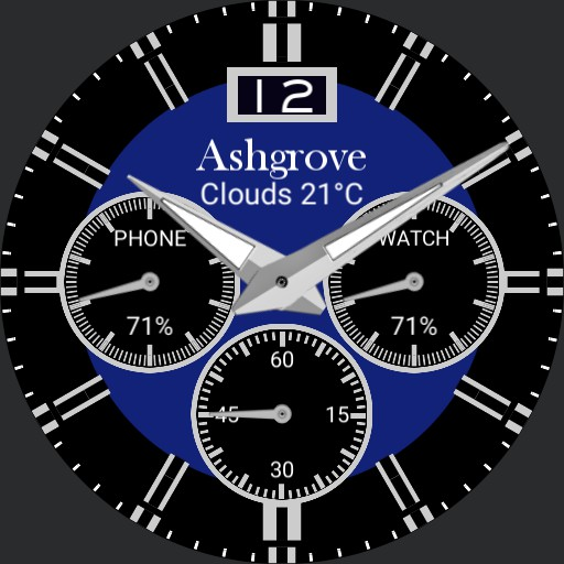 Chrono style with weather and battery levels V1