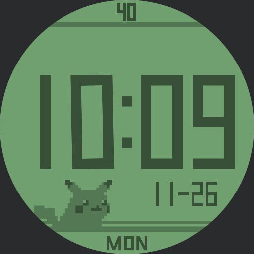 Poketch Colors 24h and battery indicator