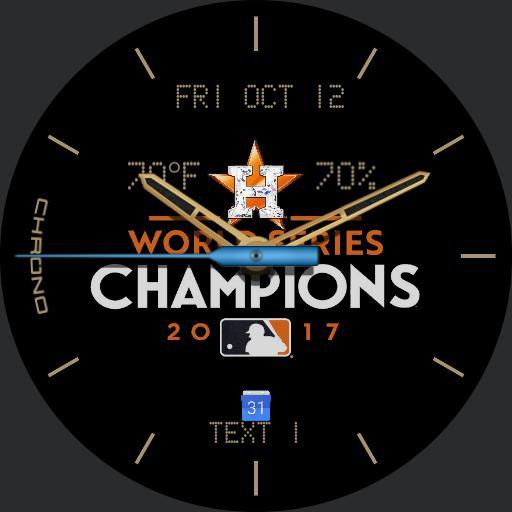 Gold Astros Champions 2017