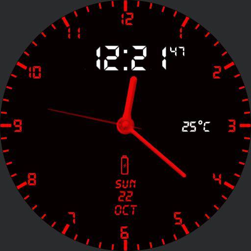 Simple Black  Red