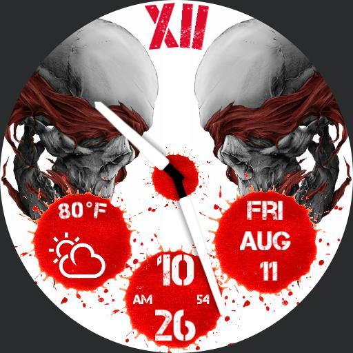 Blood split skull
