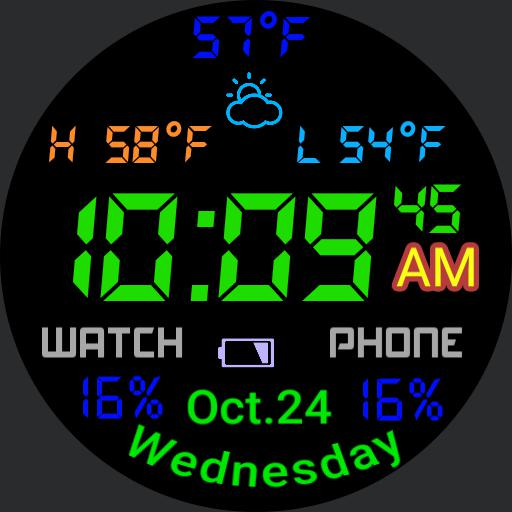 colorful weather battery status