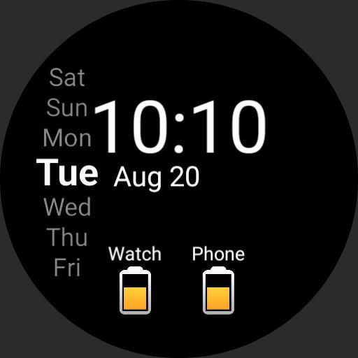 Simple phone/watch battery digital