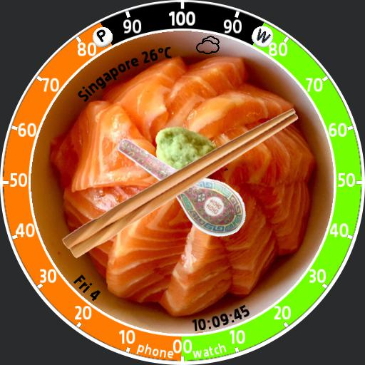 Salmon Sashimi Rice Bowl version for Samsung Galaxy