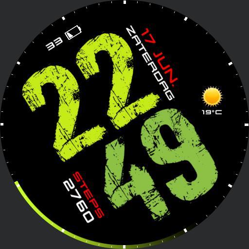 Megawatch Digital Green 2.0