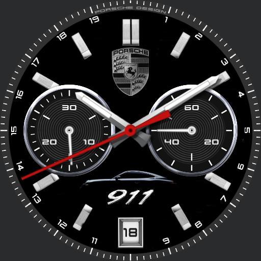 Porsche Black 911 bw