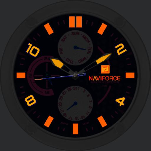 Naviforce 9068M White Neon