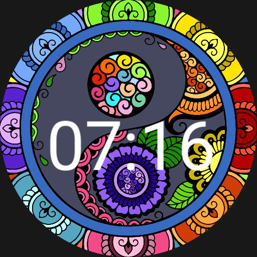 Bright and Colorful ying yang watch face