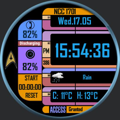 Lcars interface 2 stopwatch added.