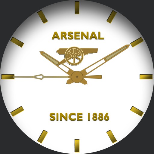 Arsenal FC White Gold