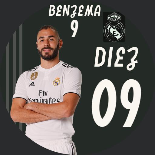 Benzema 9. Real Madrid Football Player