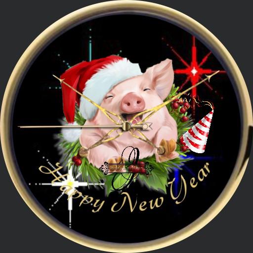 Happy New Year Gluecksschwein Animation