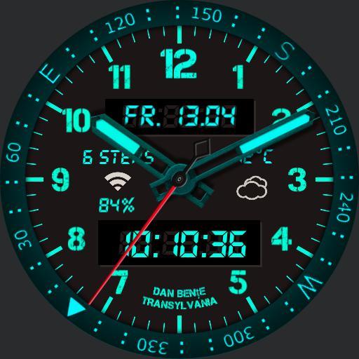 compas watch neon. Copy