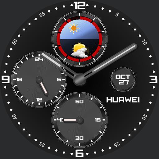 Black 24 hour classic chrono