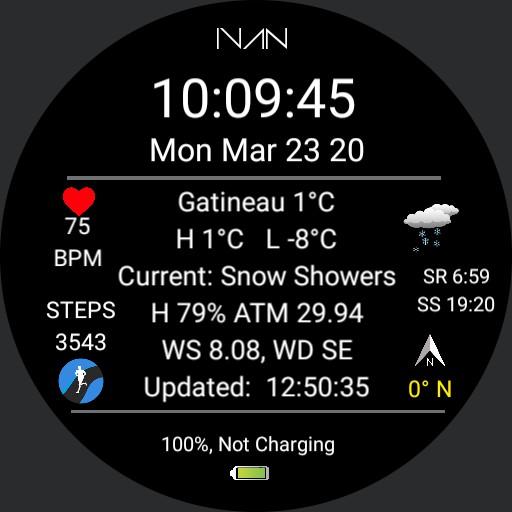 IVAN - Weather Info Dial V 3.0