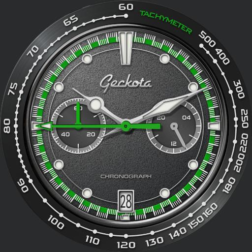 Geckota C-04 VK64 Space Age Racing Chronograph