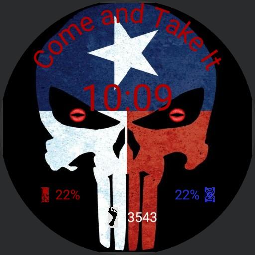 Punisher Texas Skull