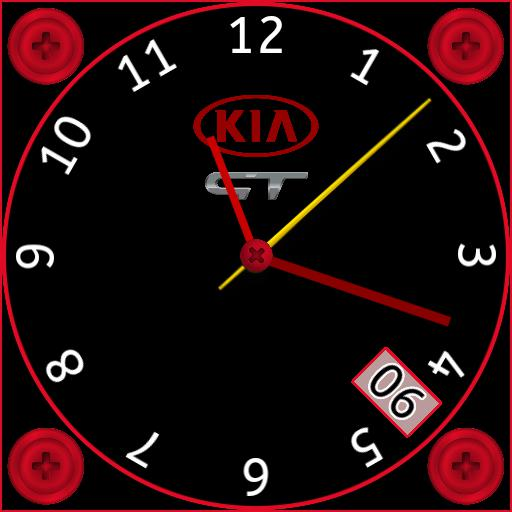 TTG Kia GT Red Analogue With Date. ucolor