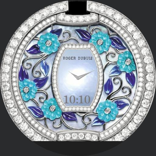 designer flowers blue and silver 2