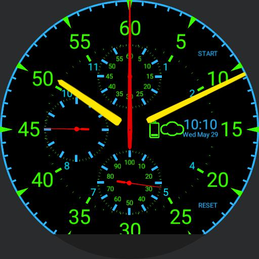 Tritium Simple Chronograph