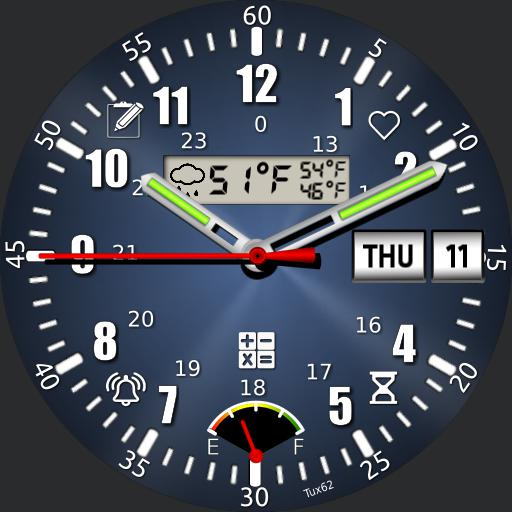 SwissArmy knife of tools V6 LCD shows local weather