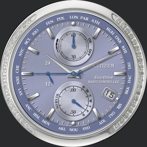 Citizen World Time Chronograph A-T  Model. FC5006-55A