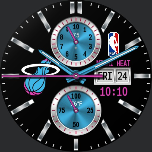 Miami Heat with digital time