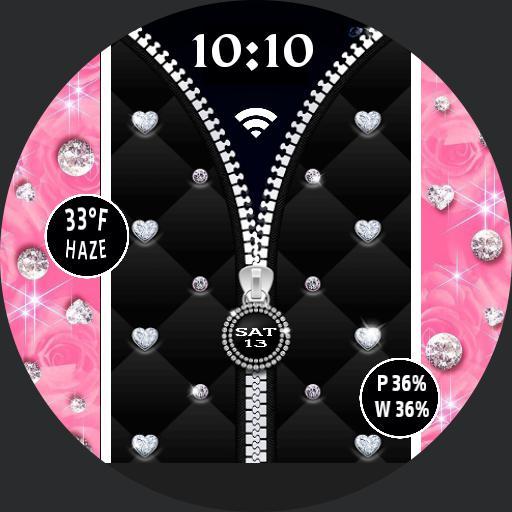pink zipper bling