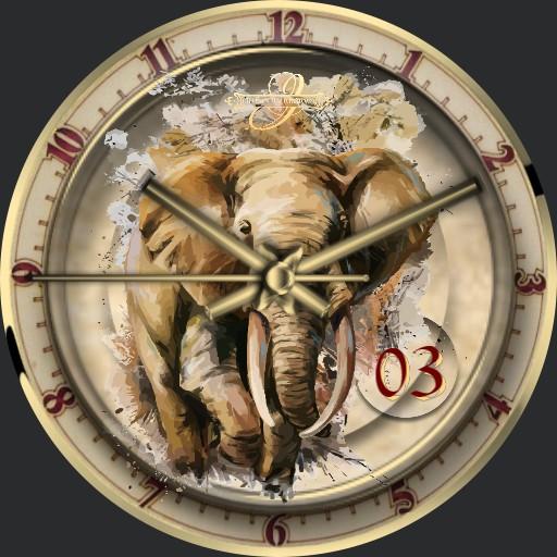 Afrika Elefant Urlaub 2 Seiten Animation