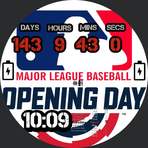 2020 MLB Opening Day Countdown