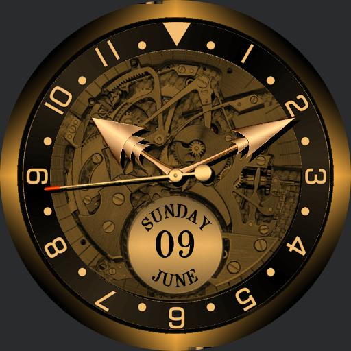 SteamPunk tribute. Dark Gold. Analogue and Digital. Fader with Cover. V2.01.