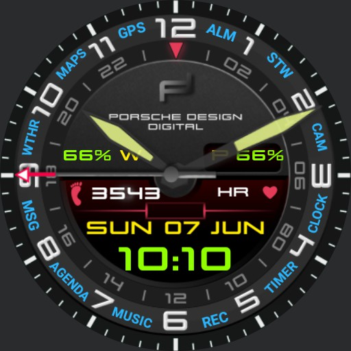 Multifunctional watch face