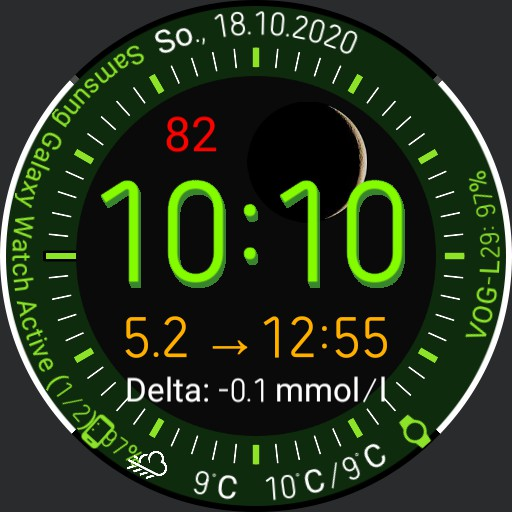 V.2.2/EN Galaxy Watch Face Clearly arranged with xDrip integration Copy