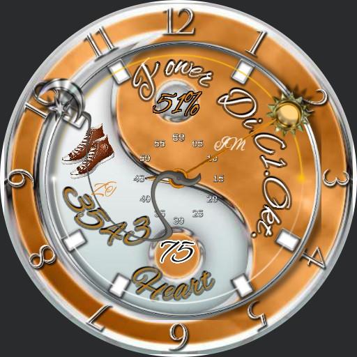 yin yang orange