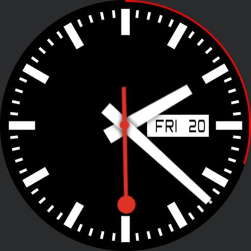 Mondaine Swiss Railway Black Date MPmod