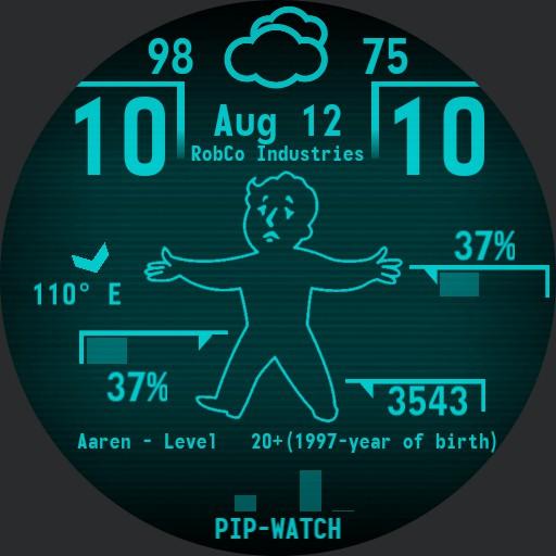 Cyan Pip-Watch