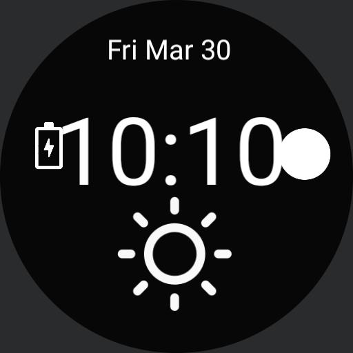 Outdoors watch face