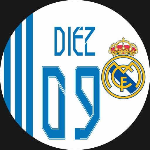 Real Madrid Football 2021-2022 White and Blue. Dim blue and orange
