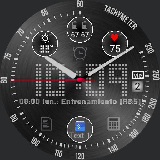 Ticwatch ARGR Negro tacometro