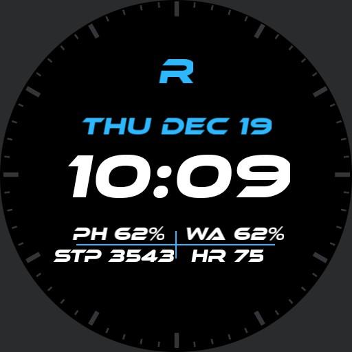 Digital watch for Huawei watch 2