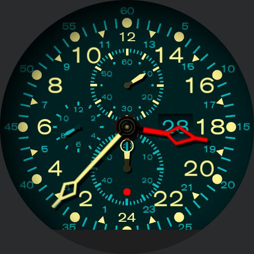 Jet dashboard clock