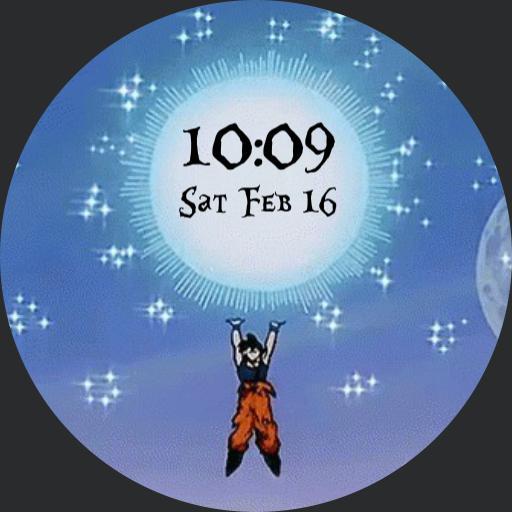 Animated Goku Spirit Bomb