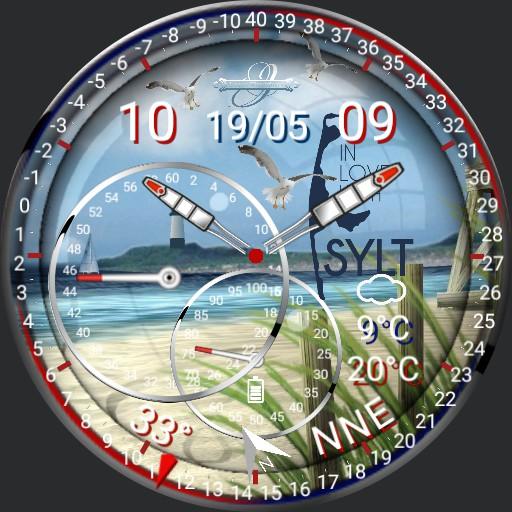 Sylt Watch Wetter Compass