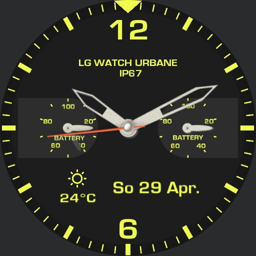 analogue ticwatch s yellow Copy