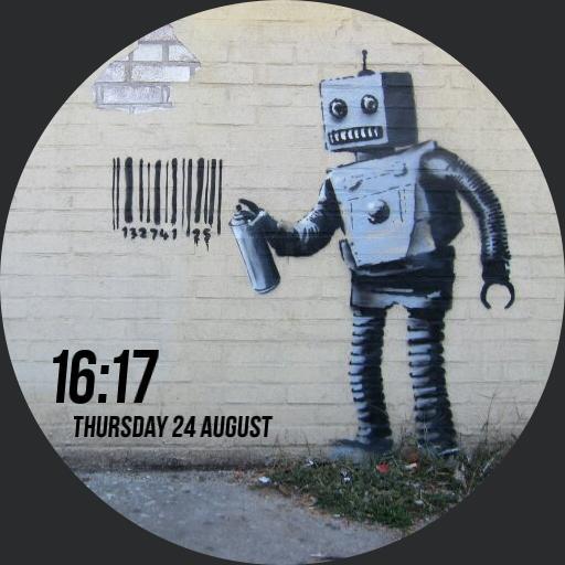 Banksy Tagging Robot
