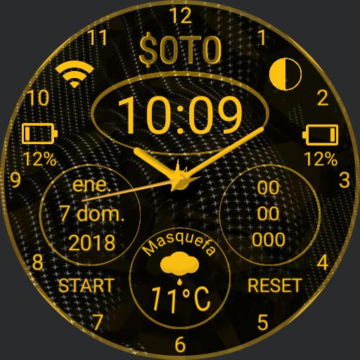 S0T0 Gold facewatch