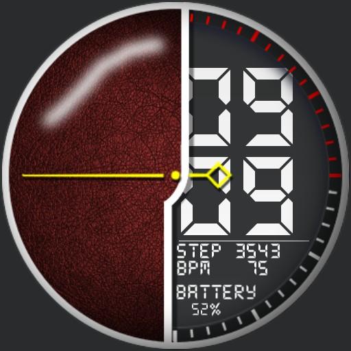 Elegant digital watch