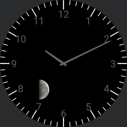 black with moon watch