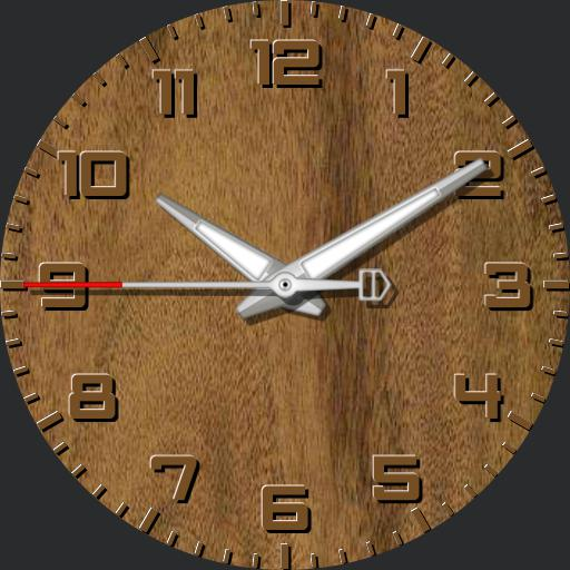 Wood face watch V3