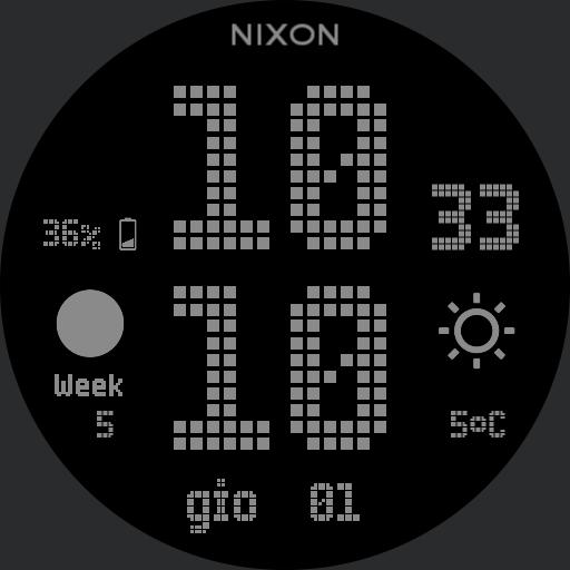 Nixon Newton Digital Custom Grey